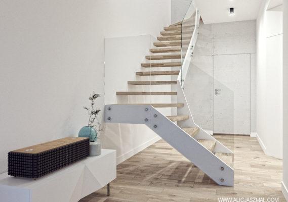 Dom jednorodzinny schody