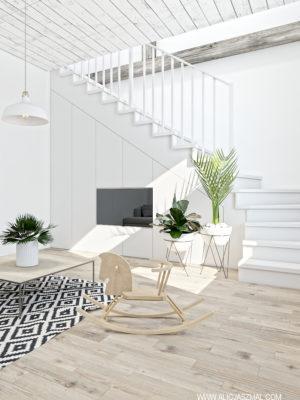 Grzybno_Salon 2_Projekt wnętrza