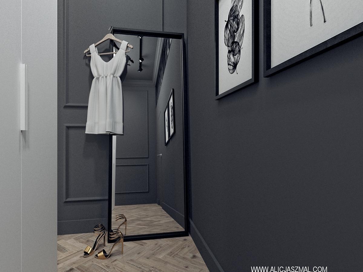 Projekt wnętrza garderoba Poznań