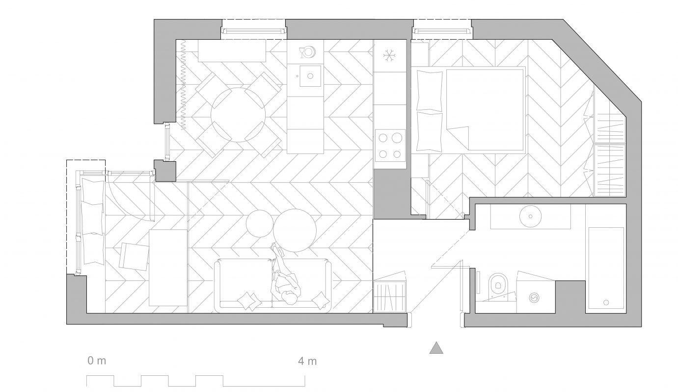 Mieszkanie architekta wnętrz;) na Jeżycach z małym biurem.